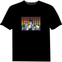 100% Cotton Customized Logo Equalizer Glow LED Panel EL T-shirt/LED Flashing T shirt
