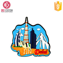 Customized souvenir fridge magnets Dubai Tower soft pvc fridge magnet