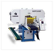 horizontal bandsawing for wood cutting band saw