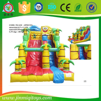 Best quality fun spongebob inflatable slide in inflatable bouncer foe children