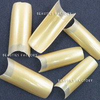 Beauties Factory 500pcs French Nail Tips (Gold)
