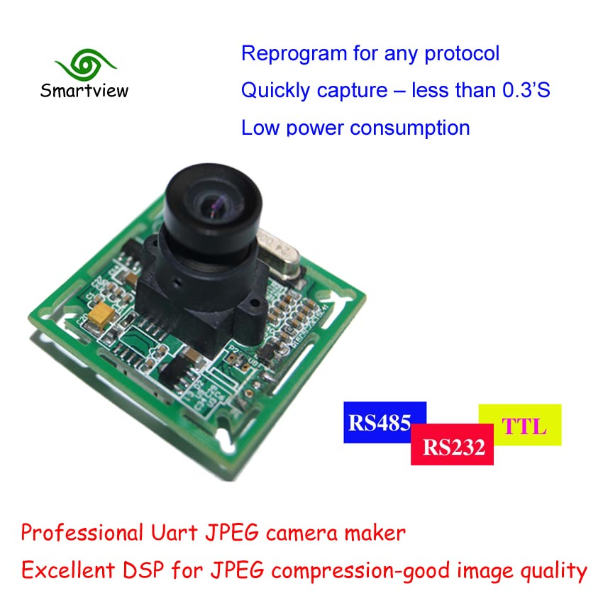 Best Price!!JPEG Color Serial Port Camera Module UART Interface TTL Camera with Infrared LED Backlight
