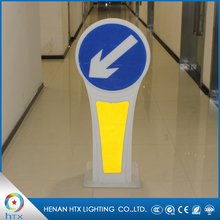 Lighting led yellow driving australian road signs,arrow led safety signs
