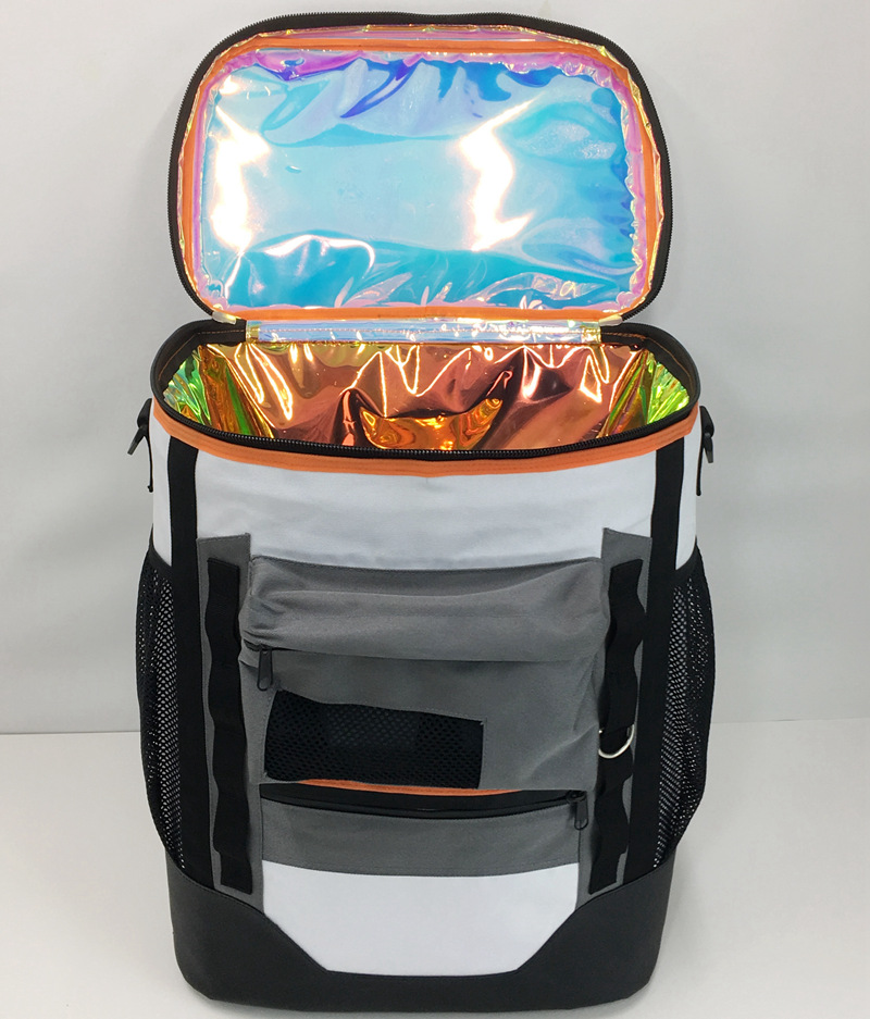 Large Outdoor Cooler Backpack Bag with Solar Energy Radio Speaker