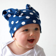 Wholesale Infants Boy Girl Knotted Cotton Cap Unisex Toddler Beanie Hat wholesale 7colors