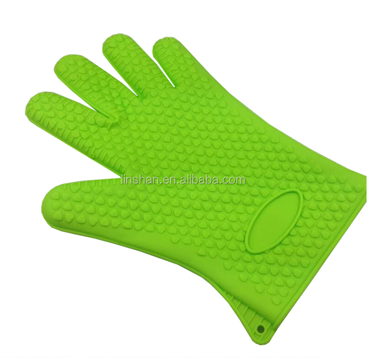 BBQ grill silicone gloves with five fingers