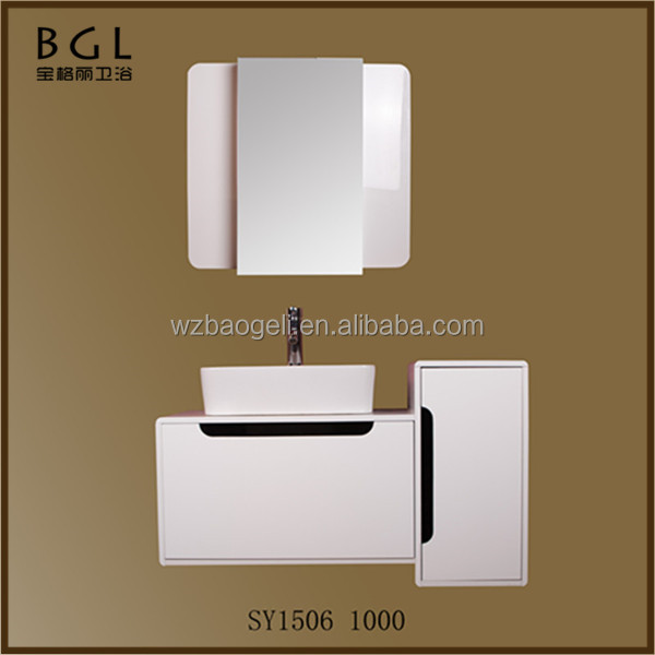 European Style Promotional White Painting Wall Mounted Bathroom Cabinet