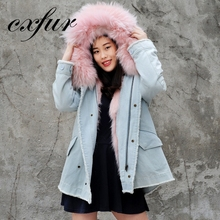 CX-G-P-18C Stable Women Real High Quality Fur Parka And Winter Coat