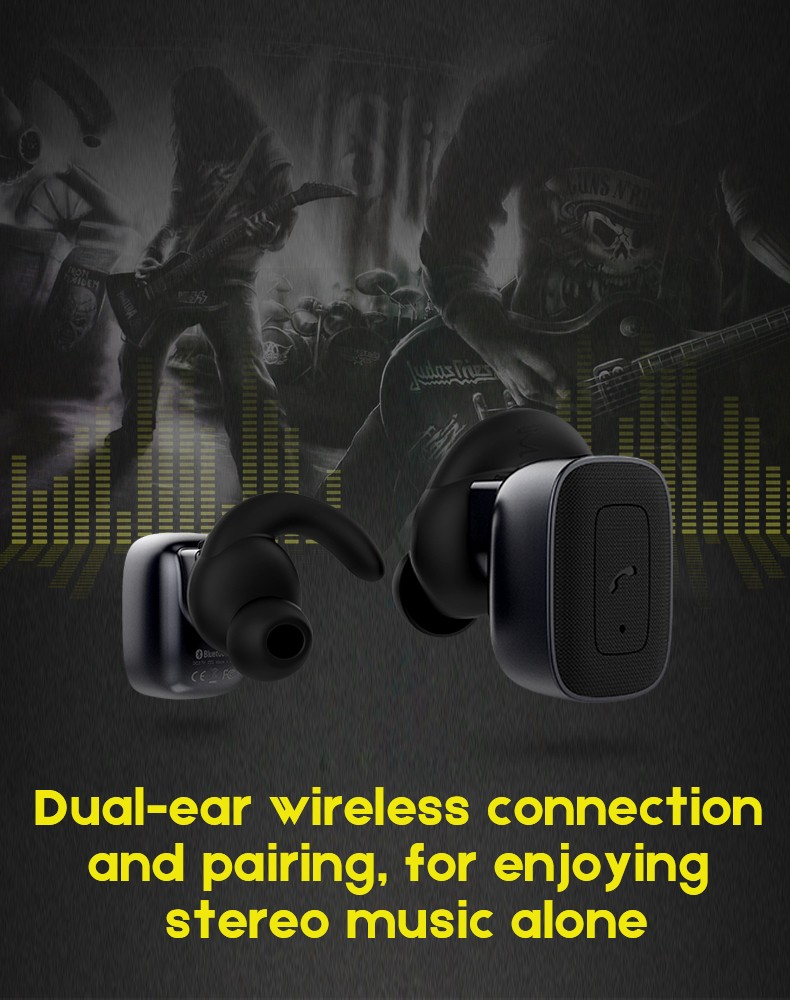 New Design Twins True Wireless Bluetooth Earbuds, V4.2 Super Mini Twins True Earbuds RBQ5 For Smartphone