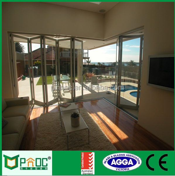Luxury Exterior Aluminum Folding Door for interior Garden Living Room