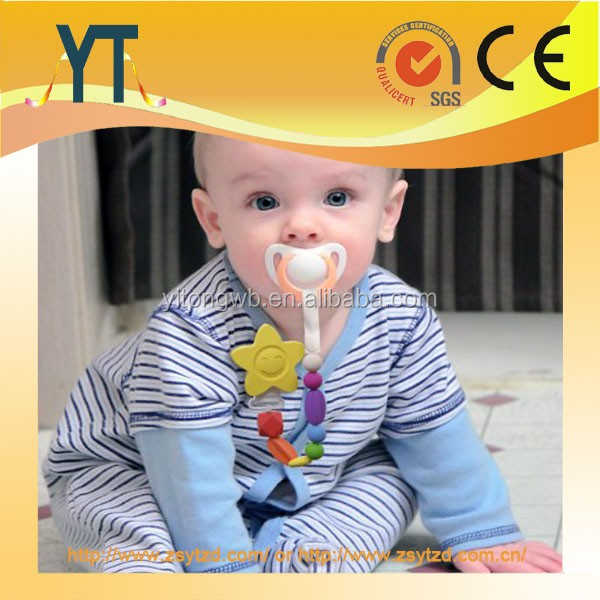 YT Manufacture Glow Skulls Pacifier Clip,baby pacifier clips and hooks/ Logo Can be Customized