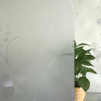 No Glue Frosted Window Sticker Cling Opaque Glass Privacy Window Film