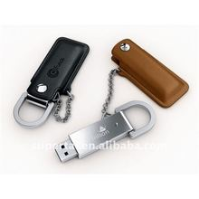 metallic leather 8 gb usb flash drive