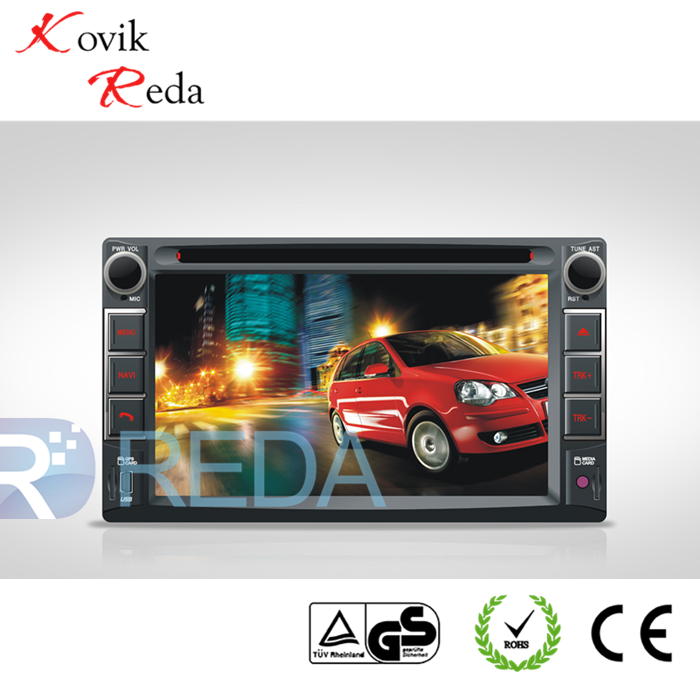 JK6213 6.2'' 2 DIN car DVD/MP5 with built-in GPS and bluetooth