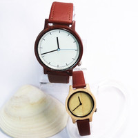 Japan movt natural color logo silk printing good polished wooden watches