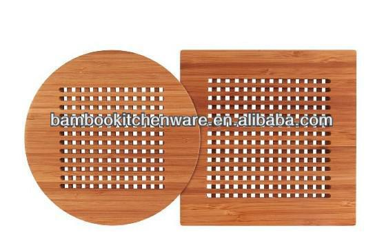 Square/Round Bamboo/Wood Coffee Trivet