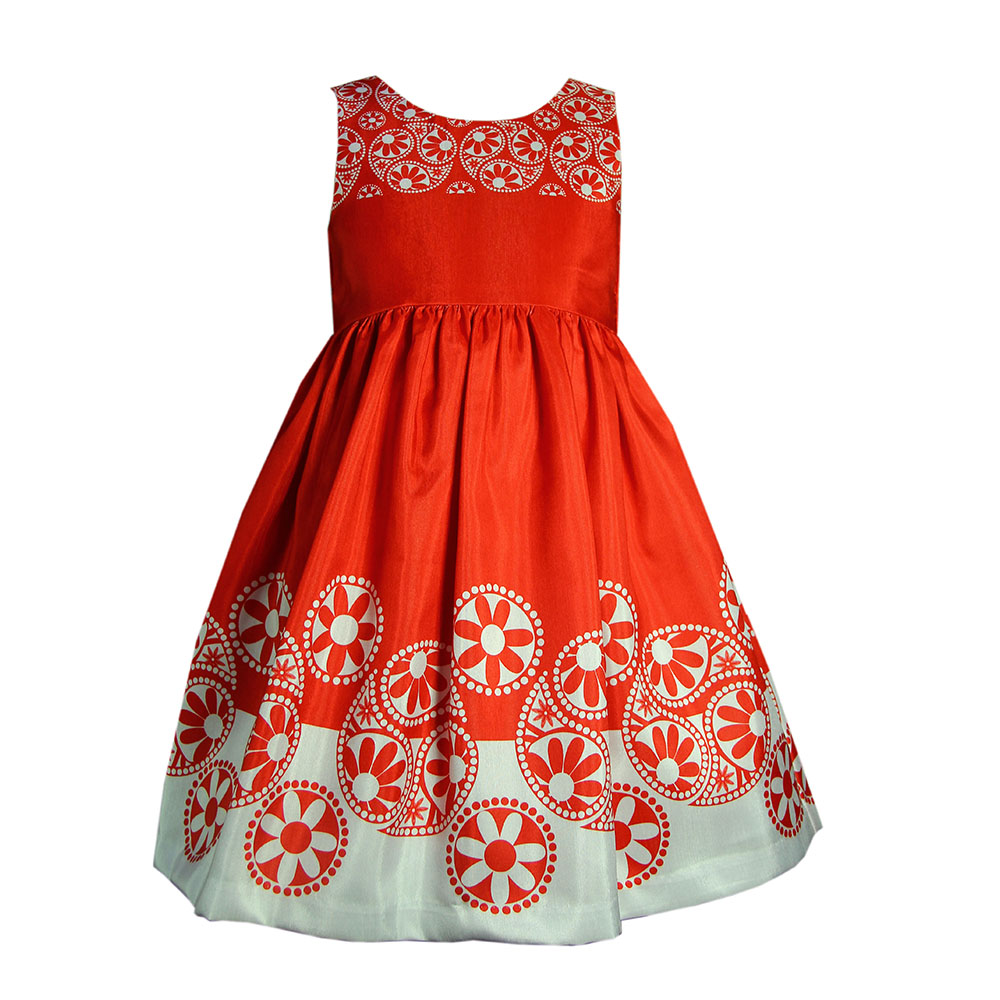 Flared social dress for 1 year birthday girl