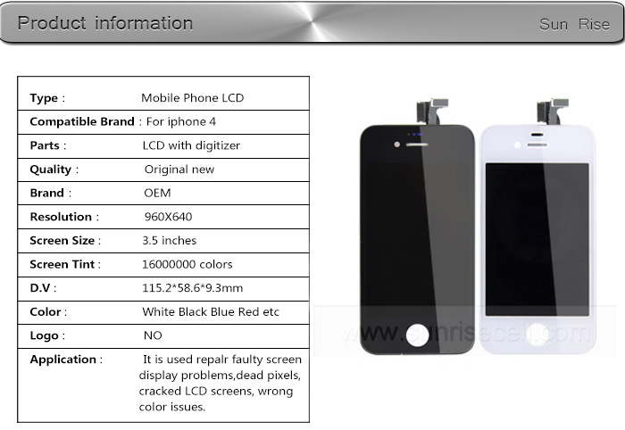 12 Months Guarantee Wholesale Price For iphone 4 Lcd Screen,Cheapest For LCD iPhone 4 LCD
