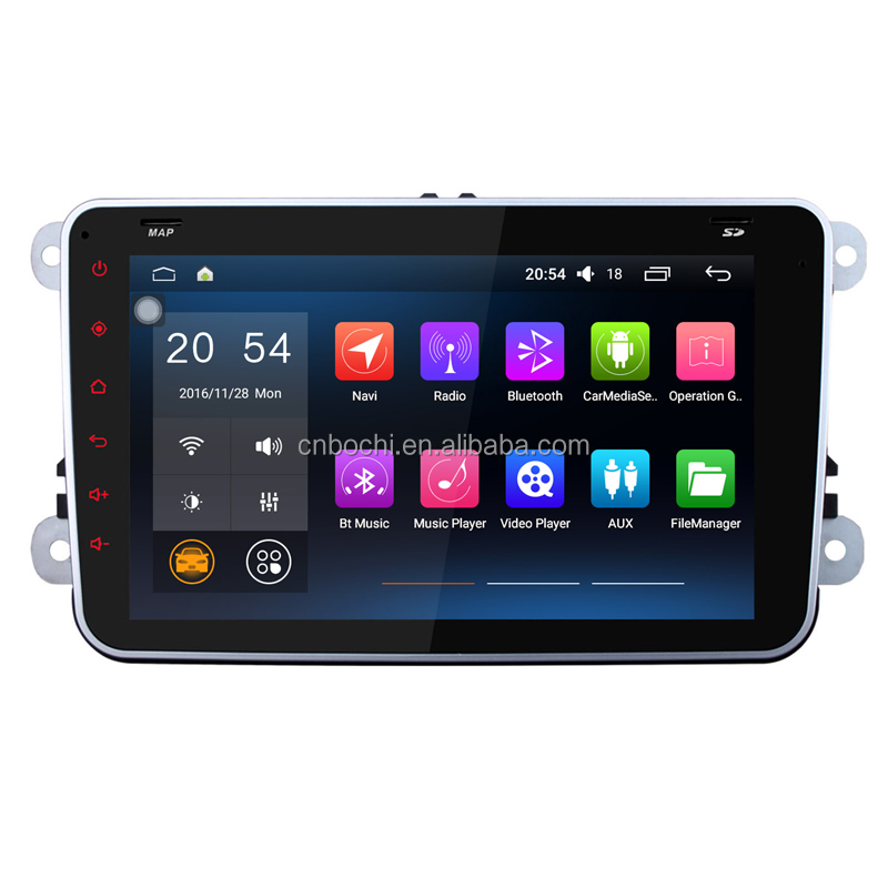 8 inch android special full touch screen car Radio player GPS Navigation for VW