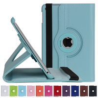 High Quality Tripled Folded 360 Rotating PU Flip Cover Smart Case for iPad MINI 4