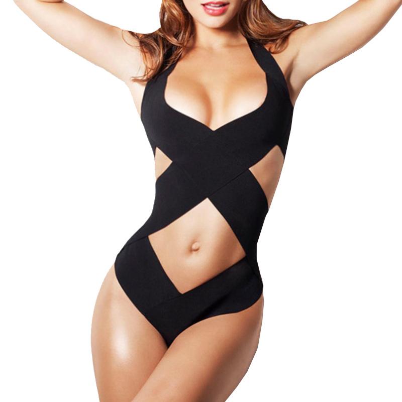 66254f6dda Get Quotations · Thong One Piece Swimwear 2015 Sexy One Piece Swim Suits  Bandage Bathing Suit Monokini Women Bodysuit