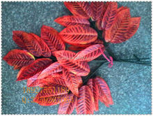 handmade art artificial leaves / whole sale fake leaves for kindergarten decoration