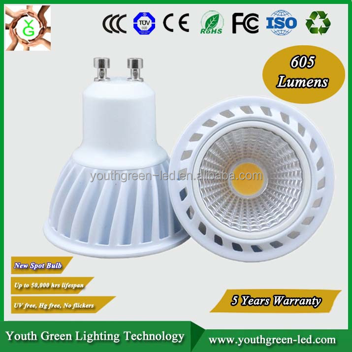 Hot Sales led cob gu10 warm dim gu10 dimmable cob led spotlight 6w