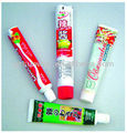 telescoping plastic tubes for toothpaste ,cosmetic and chocolate