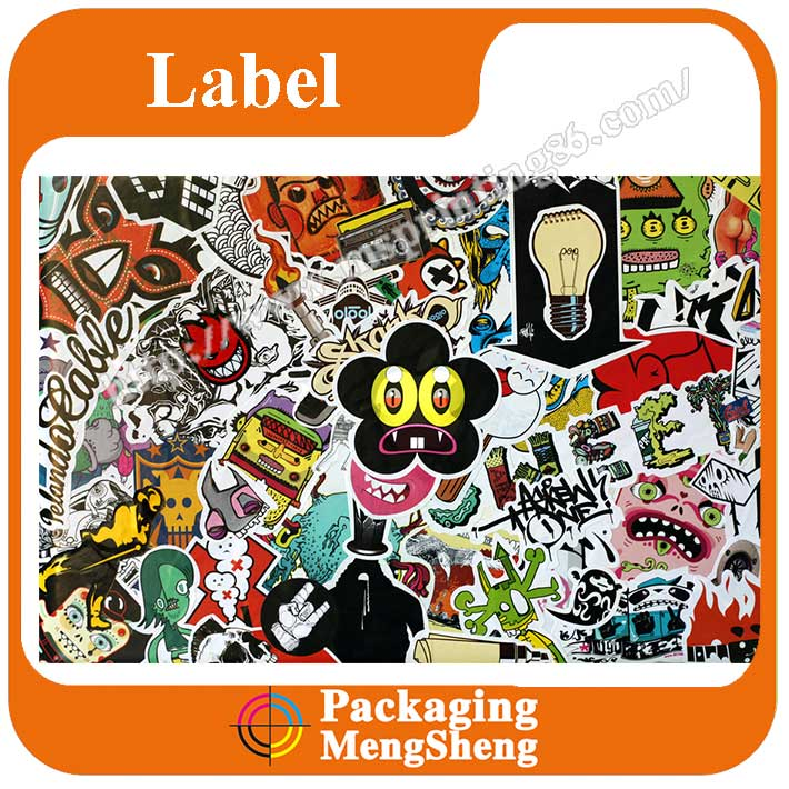 Custom Printed sticker of toy, Logo Adhesive Sticker