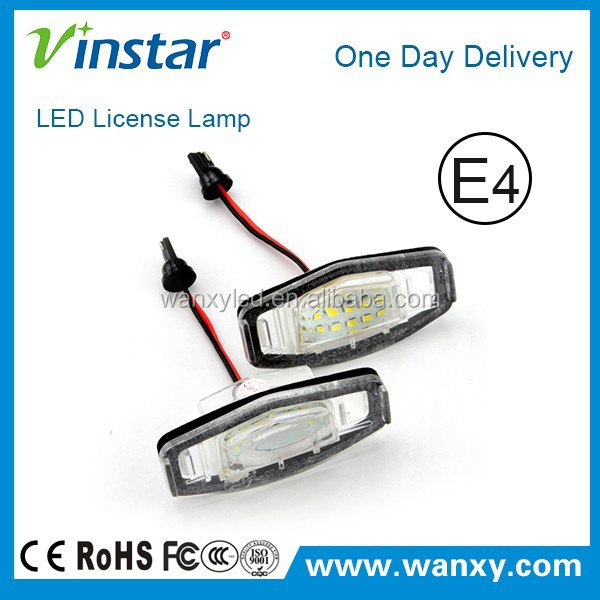Vinstar Hot sale feshionable led number plate light with E4 for Honda MR-V/Pilot 03-08