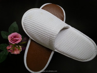 winter warm washable hotel slipper made by waffle thick sponge with PU sole/ slipper in stock