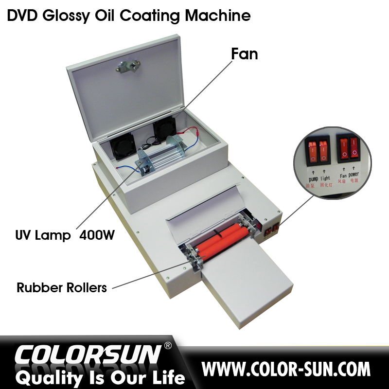 Special for CD/DVD offset oil glossy coating machine