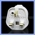 3 Pin British Plug Transfer To European Socket Power Adapter 250V 16A Fuse Protection UK Travel Plug Adapter