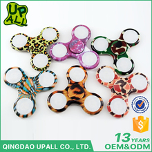 In Stock Colorful Printed ABS Tri-Spinner Finger Toys Best Selling Fashion EDC LED Hand Finget Spinner