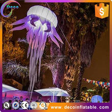 Quality manufacturer cheap colorful changing inflating advertising balloon with RGB LED light/tripod stand for event