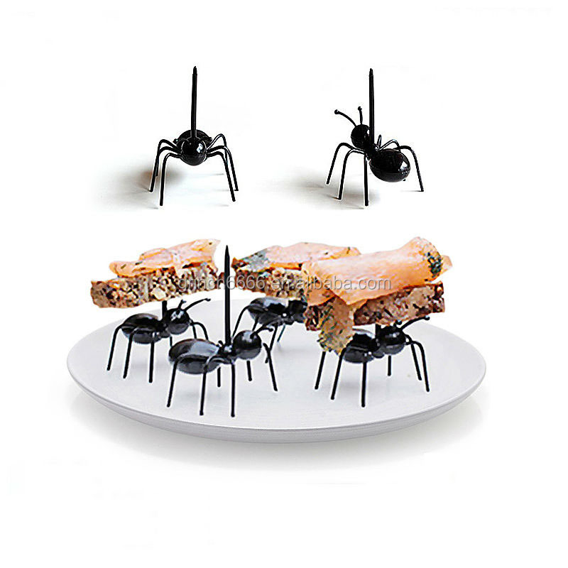 Cute Mini Ant Fruit Fork Plastic Easy Decorating Kitchen Bar Dessert Forks