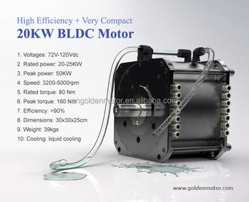 Wholesale high efficiency bldc motor 20kw electric car for High efficiency dc motor