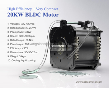 Wholesale High Efficiency Bldc Motor 20kw Electric Car