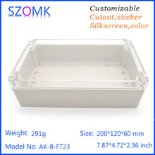 Waterproof szomk housing case with OEM service and PG outdoor plastic electronic junction box