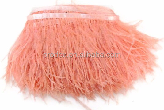 Factory wholesale 15-20cm thicken ostrich feather trim moq 5m/color