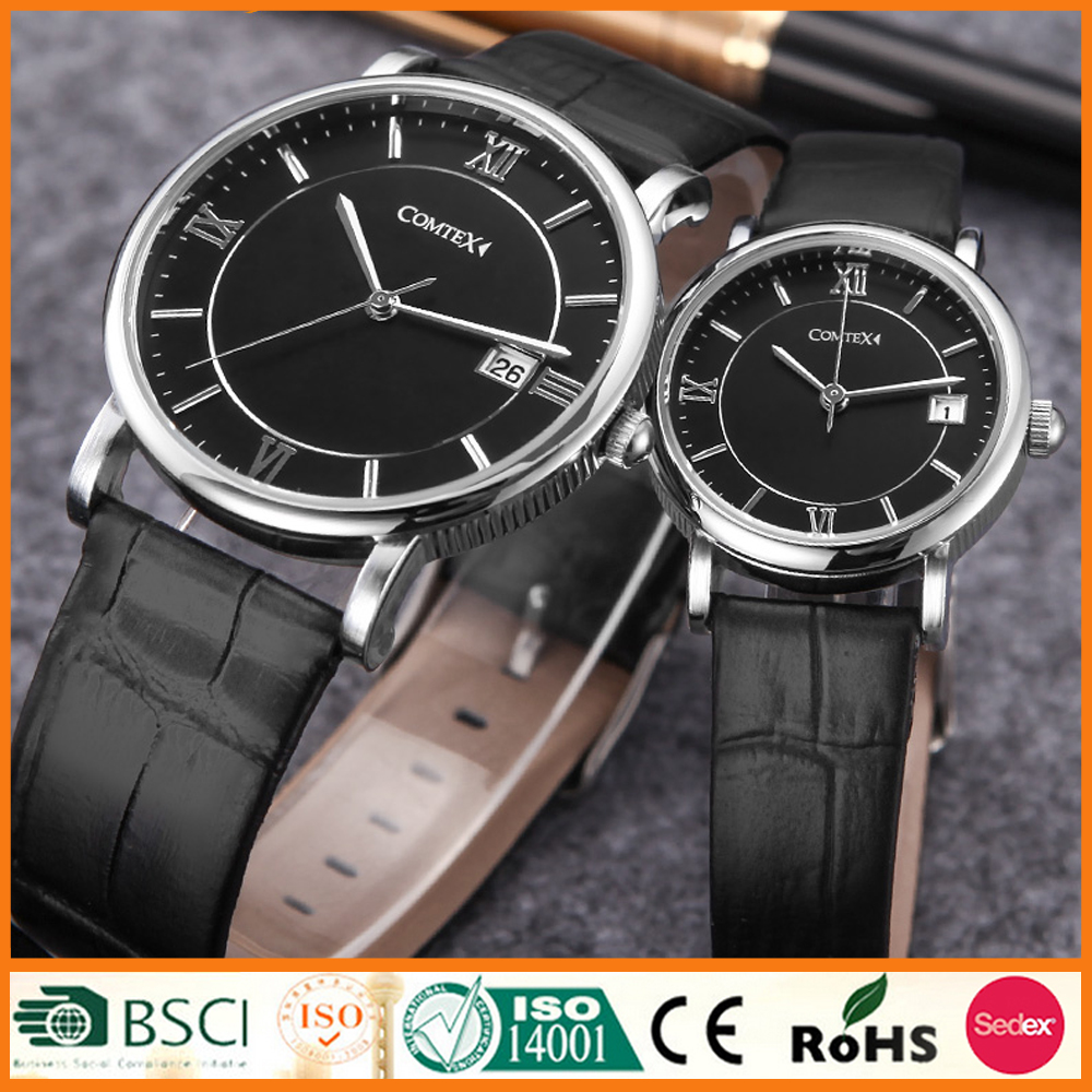 Couple Watch Lover's Gift Calendar Function Water Resistant 1ATM/3ATM/5ATM OEM & ODM Accept SYM149043