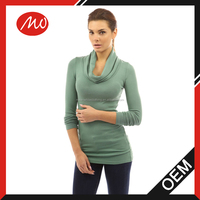 Ladies 100% angora cowl neck tunic sweater