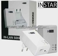 INSTAR IN-500 IP cam system PoE Powerline Adaptor Network Cable Replacement German Brand