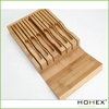 Bamboo in-drawer knife storage/Kitchen knife block /Home use knife holder/Homex