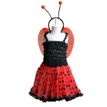 2015 halloween kids baby ladybird cosplay costume hallowmas baby girl stage party dress Kids Children's Christmas Clothing