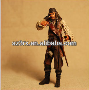 plastic pirate captain figure;movie character pvc figure