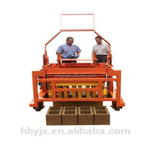 Best selling QCM4-30 Shandong concrete mobile manual simple small hollow brick block making machine