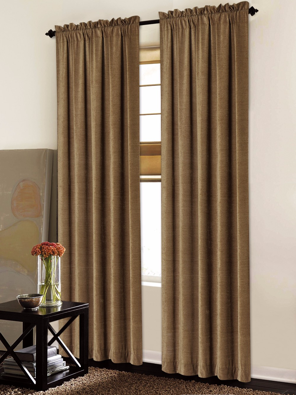 1PC Chenille Hotel Window Curtain
