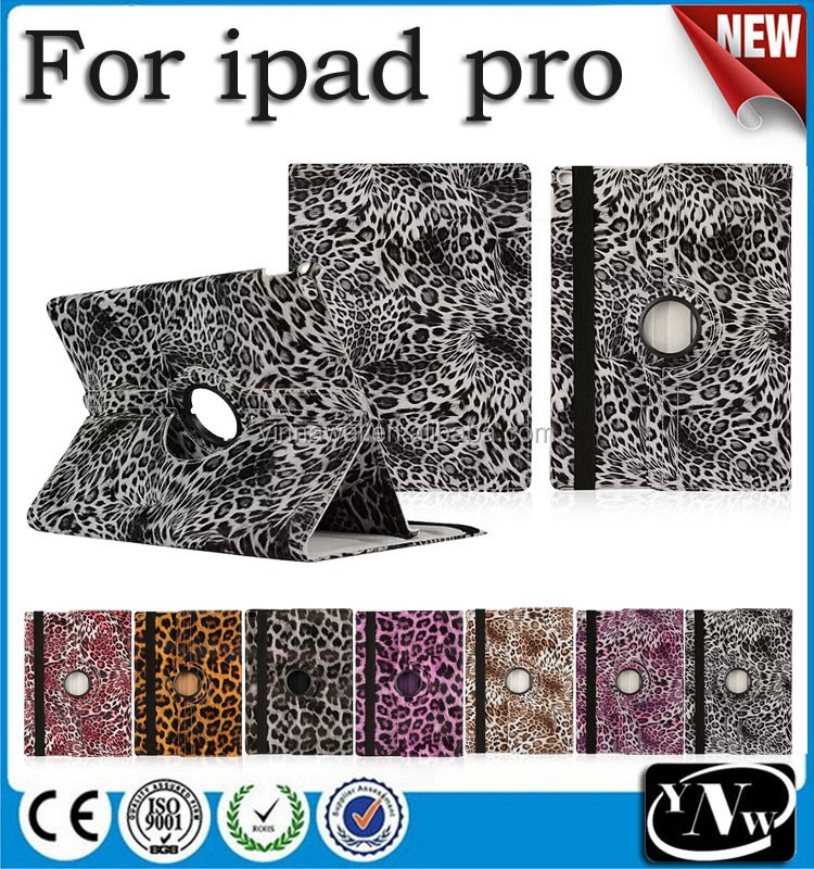 2016 New arrival Leopard pu leather case for <strong>iPad</strong> pro, leopard print case for <strong>iPad</strong> pro