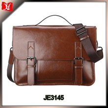 Multiple storage compartments chromebook 11.6-inch hard shell laptop leather briefcase for lawyer
